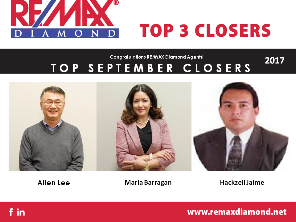 September 2017 Top 3 Closers